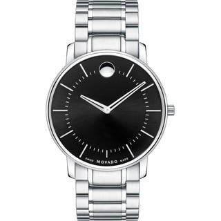 Movado Men's 0606687 'Movado TC' Stainless Steel Black Dress Watch