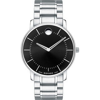 Movado Men's 0606687 'Movado TC' Stainless Steel Black Dress Watch