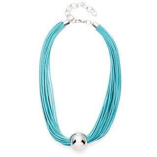 Alexa Starr Rhodium Bead Multi-row Cord Necklace