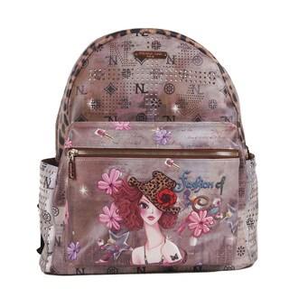 Nicole Lee Sunny Print Quinn 20-inch Fashion Backpack