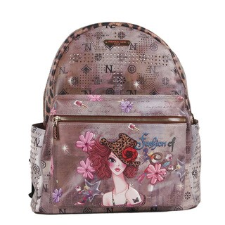 Nicole Lee Sunny Print Quinn 20-inch Fashion Backpack