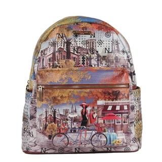 Nicole Lee Bicycle Print Quinn 20-inch Fashion Backpack