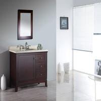 OVE Decors Valega 42-inch Tobacco Brown Single Sink Bathroom Vanity