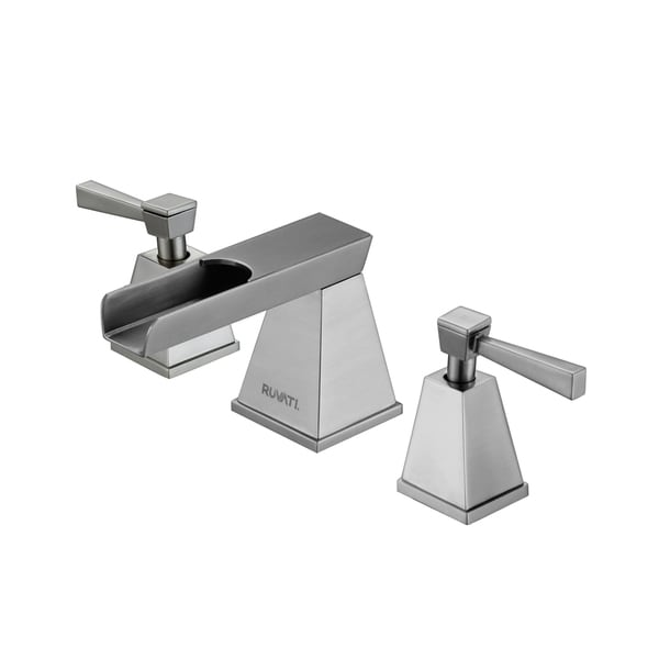 Waterfall 8 15 Inch Widespread Brushed Nickel Bathroom Two Handle Faucet Free Shipping Today