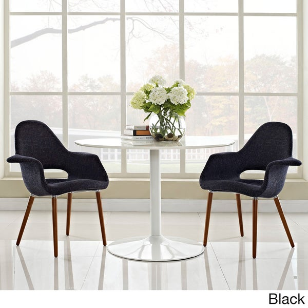 Shop Taupe Linen Upholstered Dining Armchair Set Of 2 Free