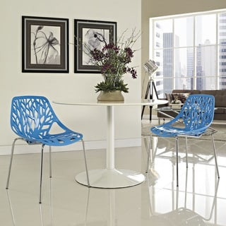 Stencil Blue Dining Side Chair (Set of 2)