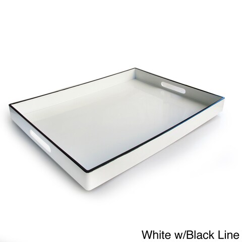 Rectangular Serving Tray with Handles (19 x 14 inches) - 19 x 14