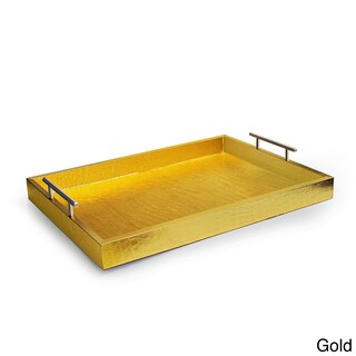 Croc-embossed Serving Tray with Metal Handles (2 options available)