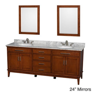 Link to Wyndham Collection Hatton Light Chestnut 80-inch Double Vanity Similar Items in Bathroom Furniture