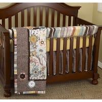 Cotton Tale Penny Lane Front Crib Rail Cover Up 4-piece Crib Bedding Set