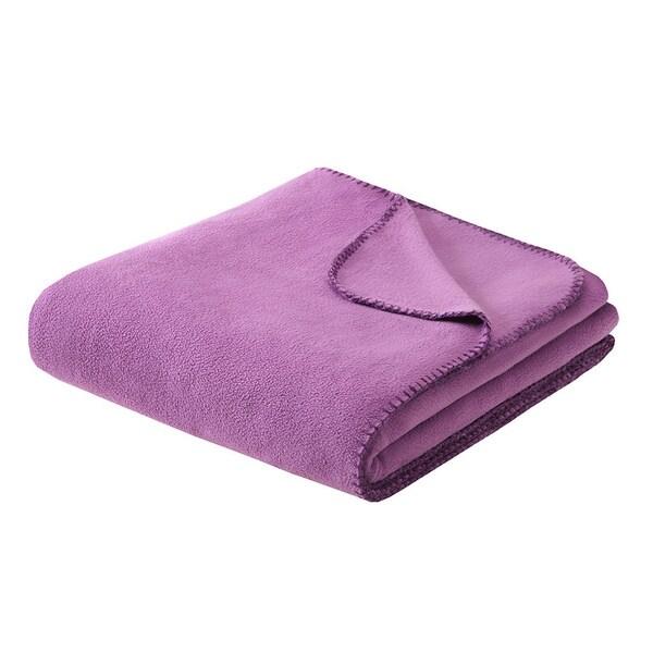 Intelligent Design Solid Microfleece Blanket