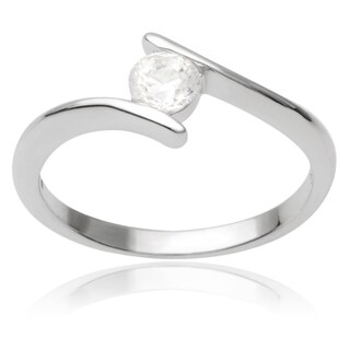 Journee Collection Sterling Silver Cubic Zirconia Bridal Style Ring