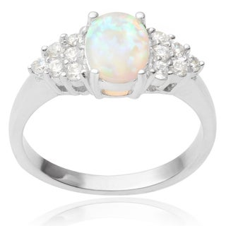 Journee Collection Faux Opal Ring