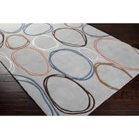 Hand-tufted Elkton Geometric Grey Area Rug - 8' x 11'