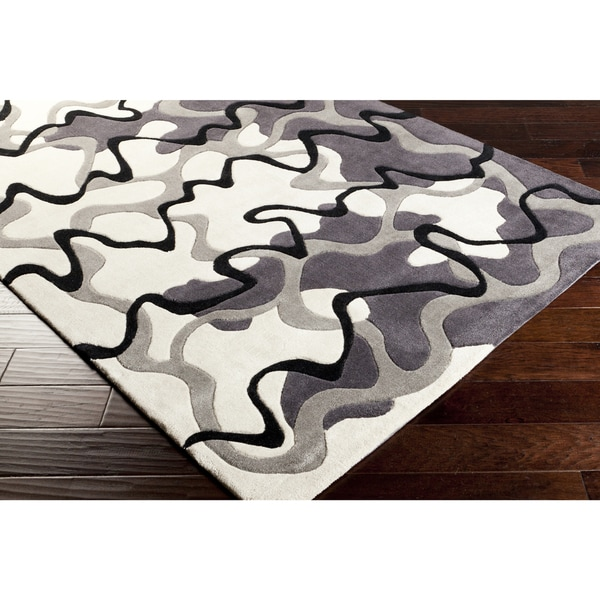 Hand-Tufted Dafter Contemporary Abstract Area Rug-(9' x 13')