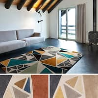 Hand-tufted Barton Grey/ Multi Area Rug