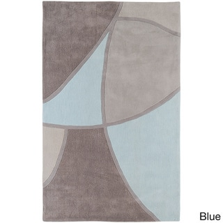 Hand-tufted Abstract Geometric Area Rug (9' x 13')