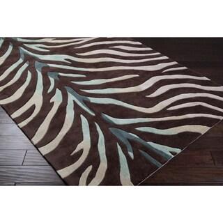 Hand-tufted Holland Animal Brown Area Rug (3'6 x 5'6)