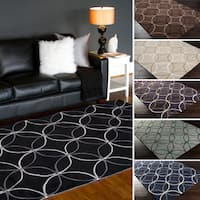 Hand-Tufted Geometric Contemporary Area Rug - 2' x 3'