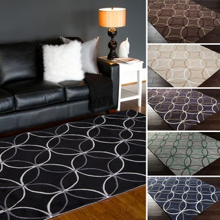 Hand-Tufted Geometric Contemporary Area Rug-(3'6 x 5'6)