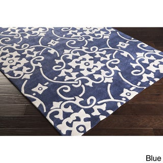 Hand-Tufted Floral Contemporary Area Rug-(3'6 x 5'6)