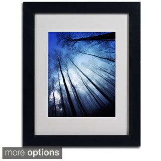 Philippe Sainte-Laudy 'Blue Forest' Framed Matted Art