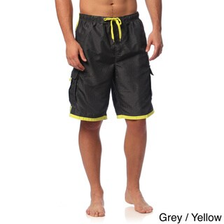 Burnside Men's Swim Striped Board Shorts