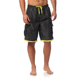 Burnside Men's Swim Striped Board Shorts