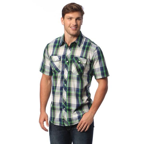 b71a1986 Shop Burnside Men's Plaid Short-sleeve Shirt - Free Shipping On ...