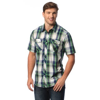 Burnside Men's Plaid Short-sleeve Shirt