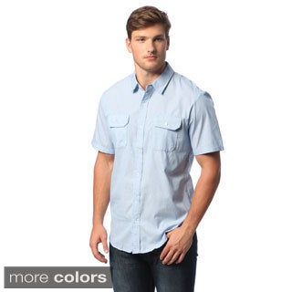 Burnside Men's Dobby-stripe Short-sleeve Shirt
