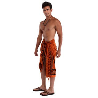 Handmade 1 World Sarongs Men's Celtic Cross Sarong (Indonesia)