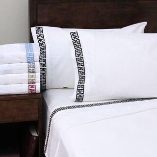 Superior Embroidered Deep Pocket Kendell Cotton Sheet Set