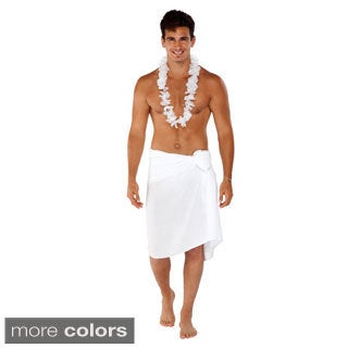 Handmade 1 World Sarongs Men's Solid Fringeless Sarong (Indonesia)