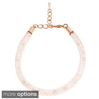 Alexa Starr Glass Tubular Mesh Bracelet