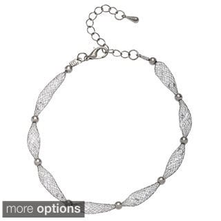 Alexa Starr Glass Mesh Scalloped Bracelet