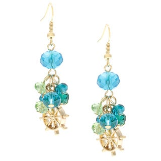 Alexa Starr Linear Sea Life Wheel Charm Drop Earrings