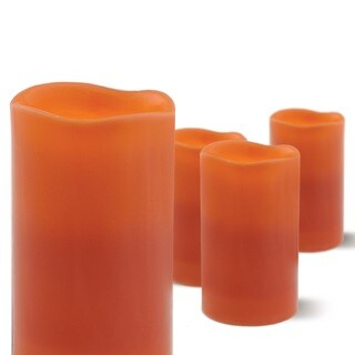 Order Home Collection 4-piece Pumpkin Spice Scent Flameless Candle Set