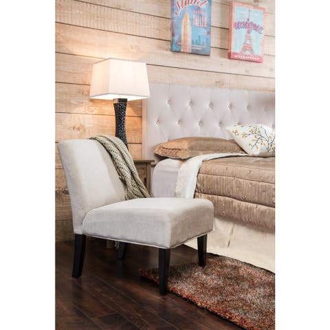 Furniture of America Springville Contemporary Fabric or Faux Leather Accent Chair