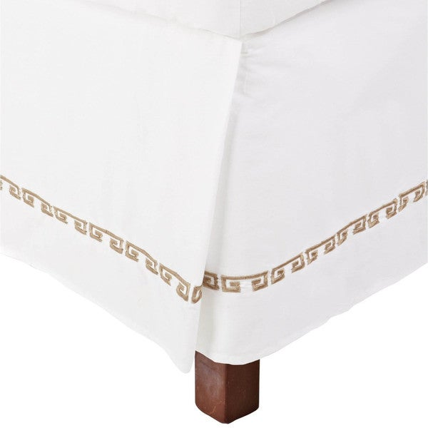 Superior Kendell Embroidered Cotton 15-inch Drop Bedskirt
