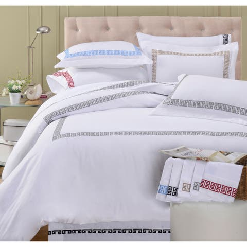 Miranda HausKendell 200 Thread-Count Embroidered Cotton 15-inch Drop Bedskirt