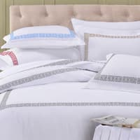 Superior Kendell Embroidered Cotton Sateen Duvet Cover Set