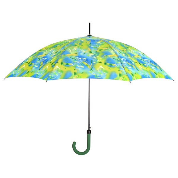 Leighton Blue and Green Butterfly Print Umbrella