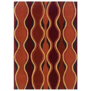 Safavieh Kashmir Orange Abstract Rug 8 X 10 Free