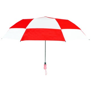 Leighton 'Rainkist' Red 60-inch Alternating Checker Print Umbrella