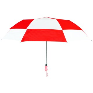 Leighton 'Rainkist' Red 60-inch Alternating Checker Print Umbrella