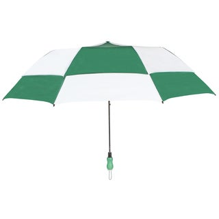 Leighton 'Rainkist' Green 60-inch Alternating Checker Print Umbrella