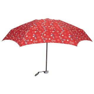Leighton 'Genie II' Red Cat Print Manual Compact Umbrella