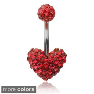 Misbehave Stainless Steel Austrian Crystal Belly Ring (2 options available)