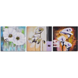"Hand Painted ""Floral Niceties"" Canvas Wall Art"